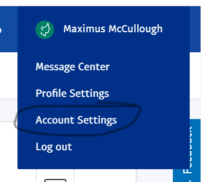 Account Settings in PayPal