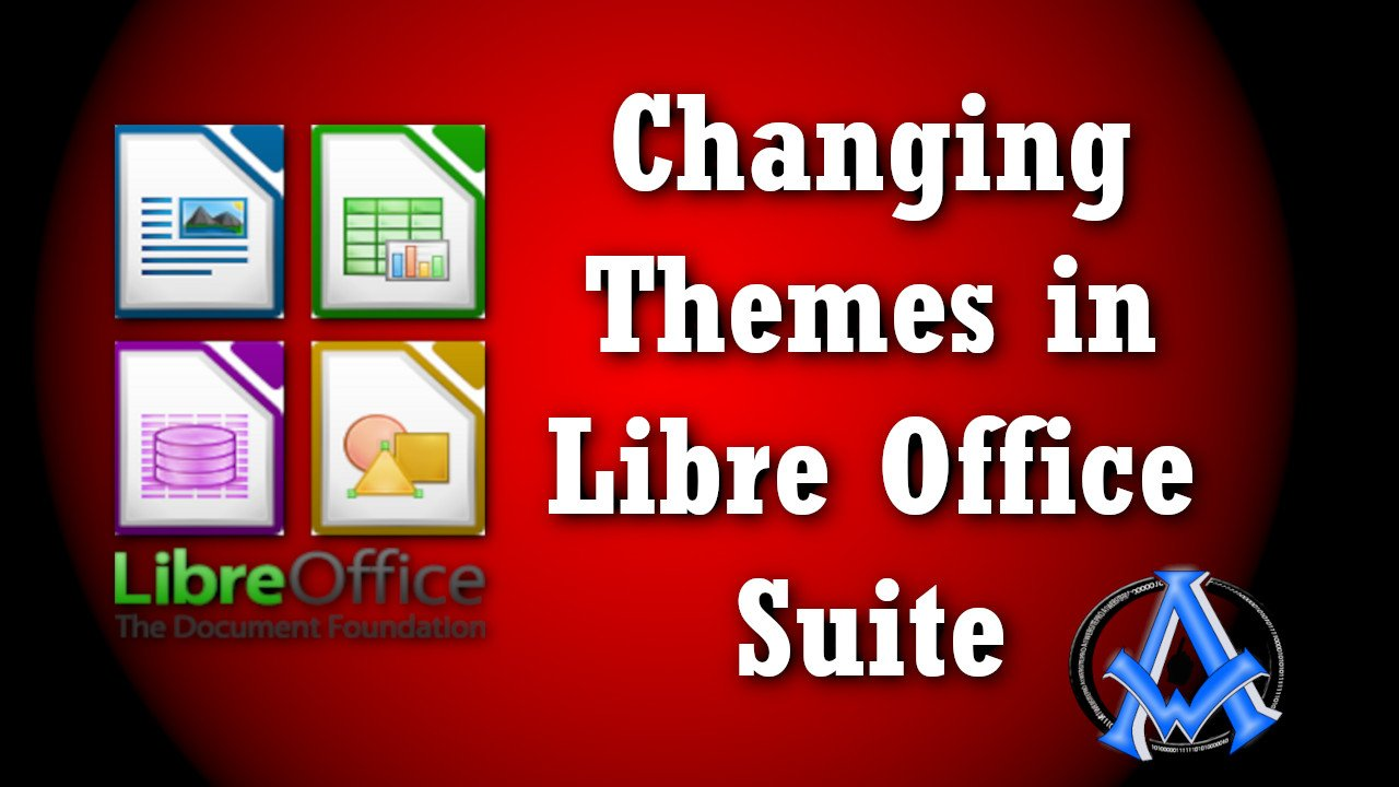 changing theme in libre office suite