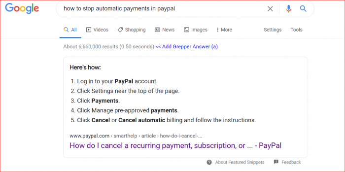 how to stop automatic payments in paypal