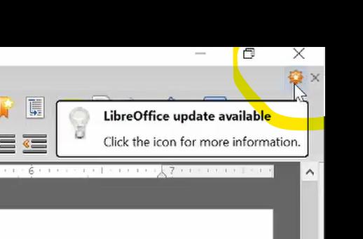 libre update notification