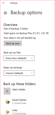 backup options for windows 10