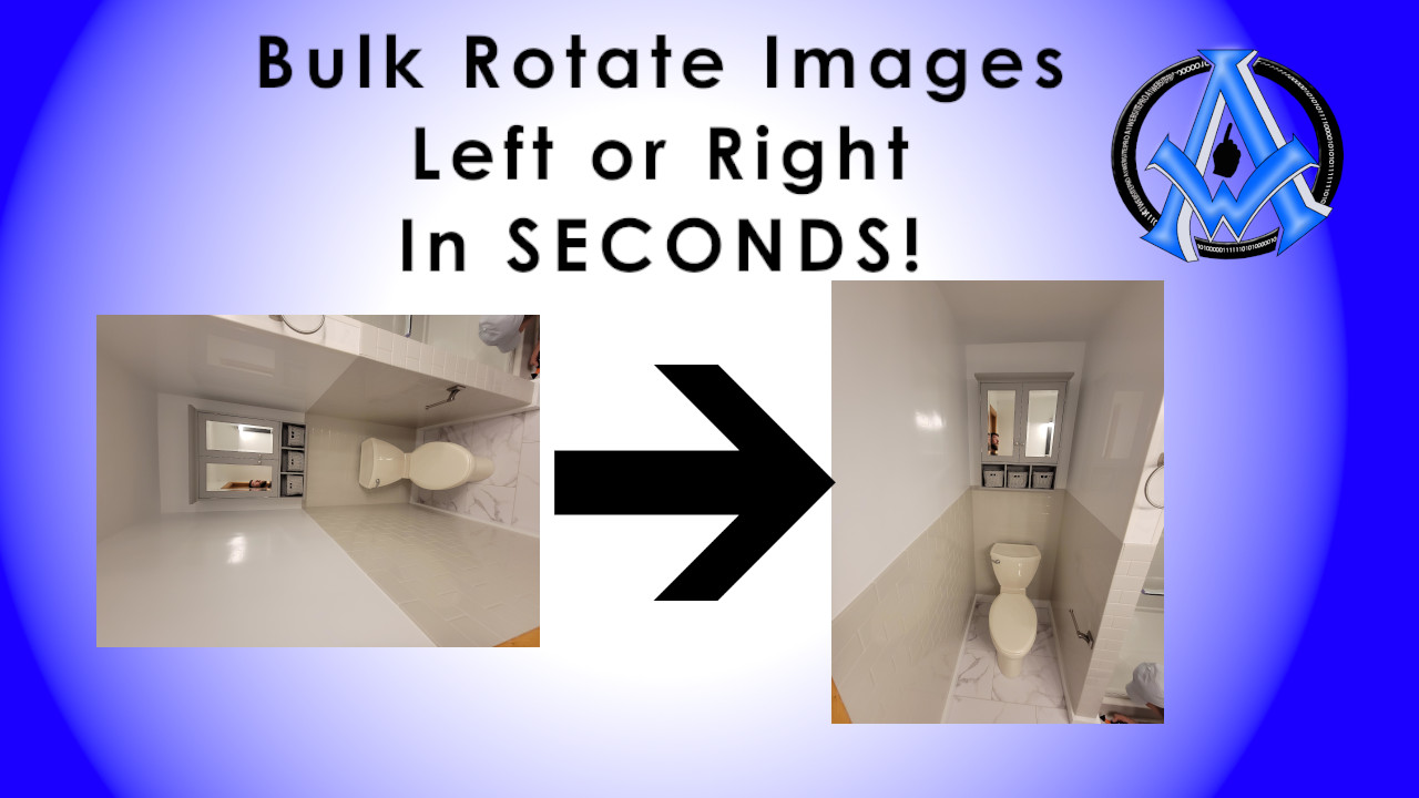 BULK ROTATE IMAGES LEFT OR RIGHT IN SECONDS